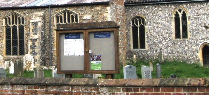 Church noticeboard