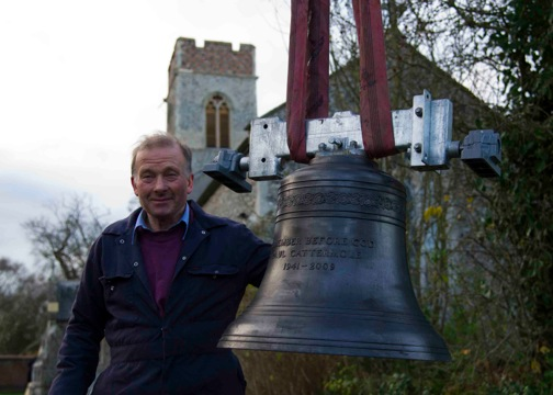 Aubrey Forster with Paul's Bell